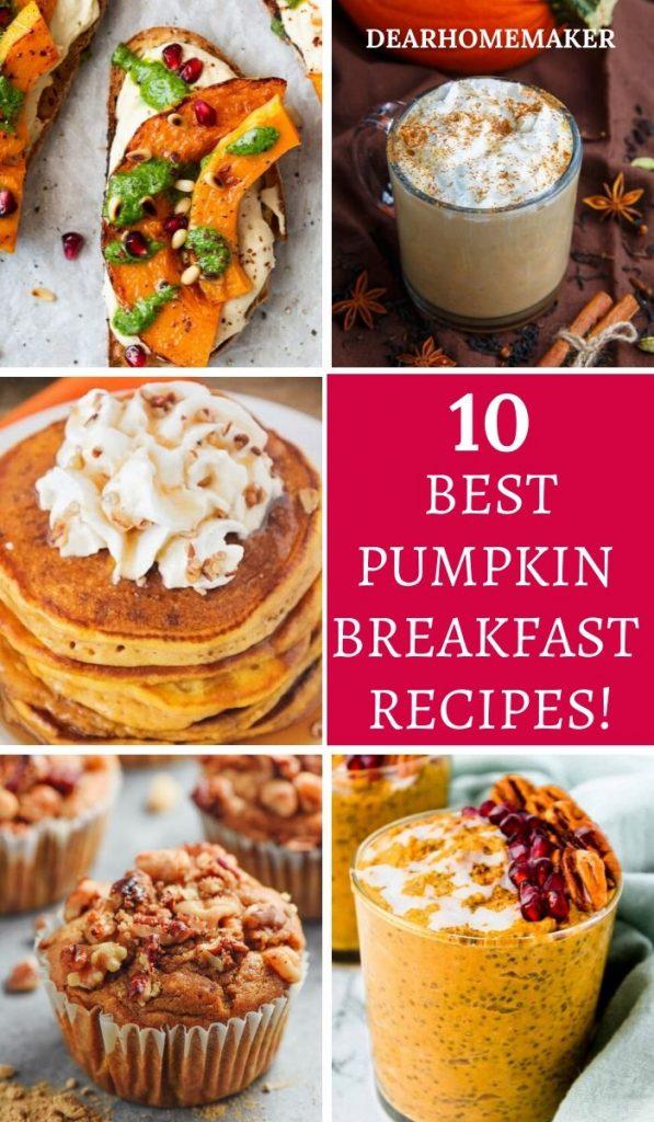 10 Healthy & Delicious Pumpkin Breakfst Recipes