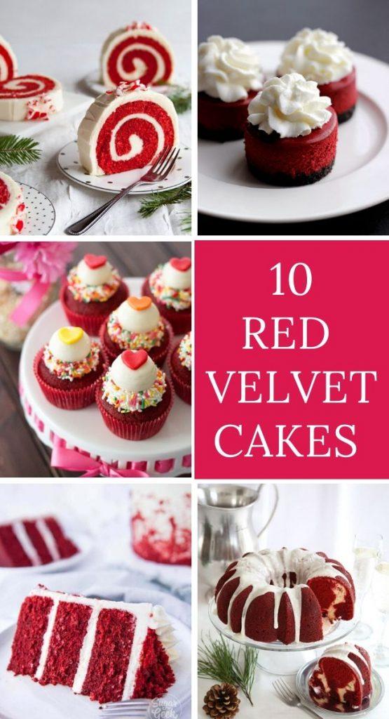 10 Red Velvet Cakes Recipes