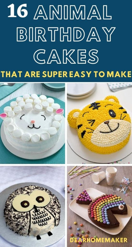 16 Animal Birthday cake for kids