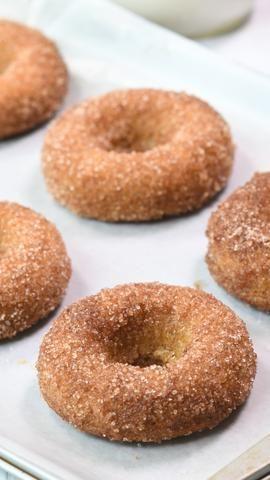 Apple spiced keto donut