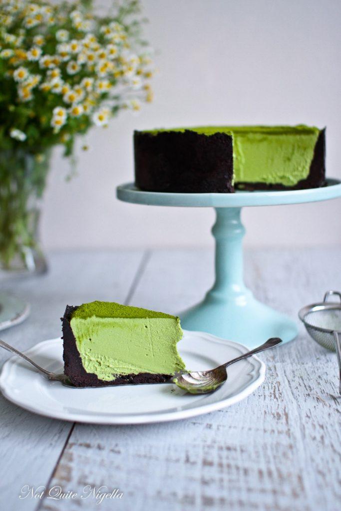 Matcha No Bake Cheesecake