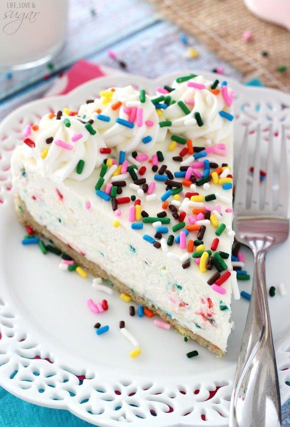 No-Bake Funfetti Cheesecake