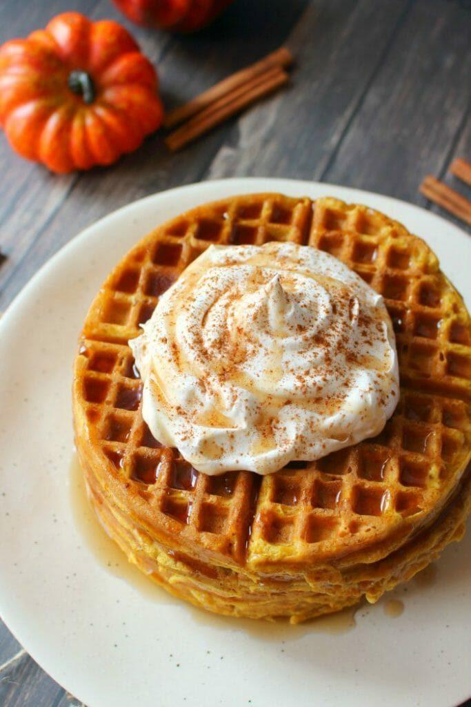 Pumpkin Waffles Breakfast