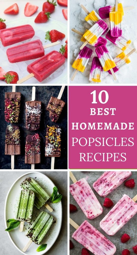 10 Delicious and healthy Popsicles to enjoy this summer