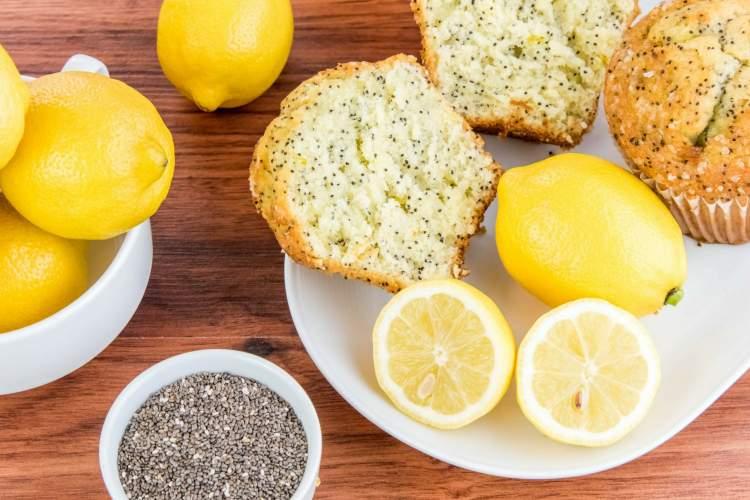Keto Lemon Chia muffins