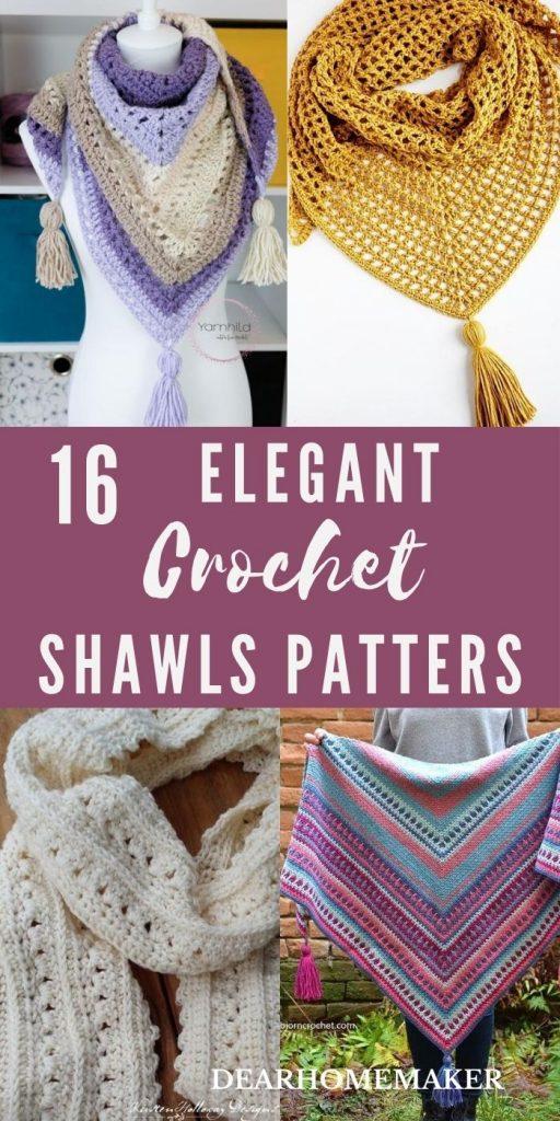 16 free crochet Shawls Patters