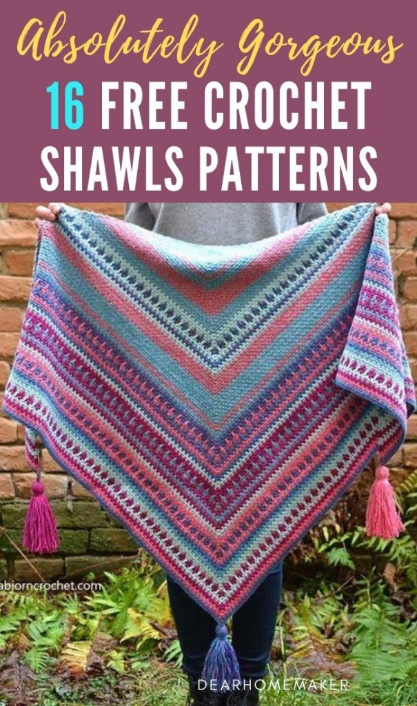 16 Gorgeous Crochet Shawl Patterns
