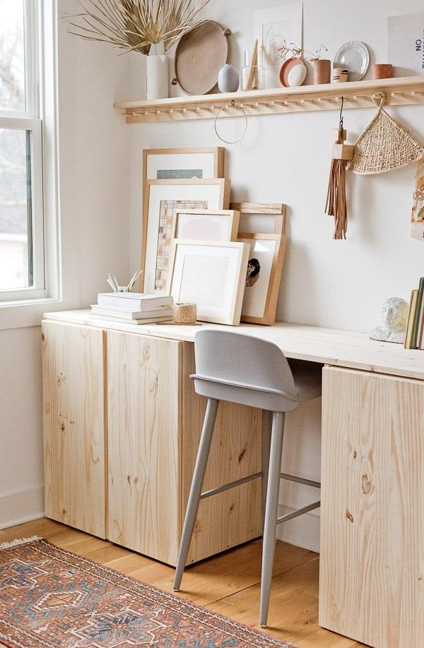 Ikea Ivar standing desk hack