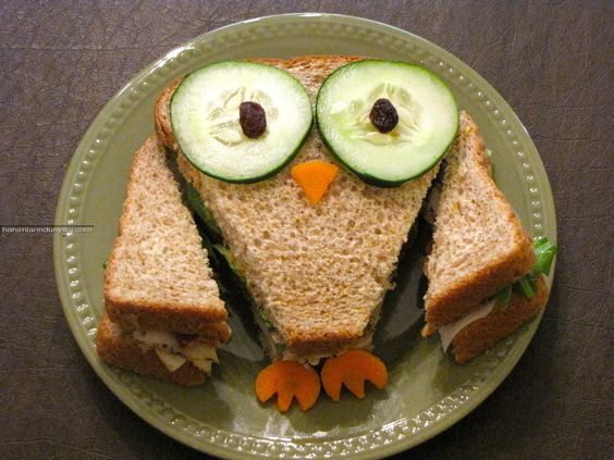 Fun Owl sandwich