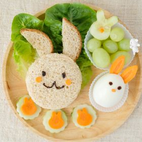 Healthy bunnies breakfast for kids