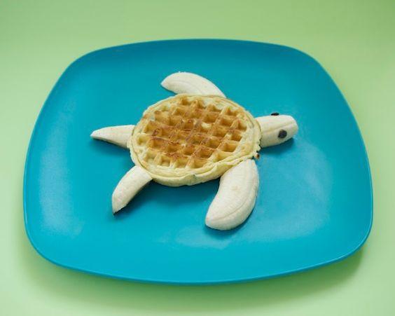 Waffle tortoise-fun breakfast
