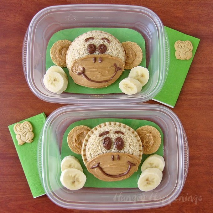 monkey sandwich fun breakfast for kids