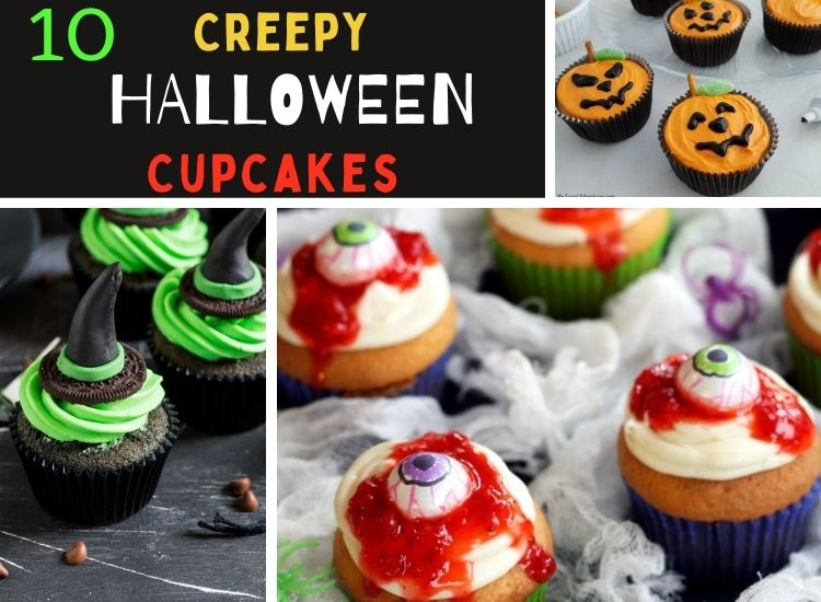 10 Halloween scary cupcakes