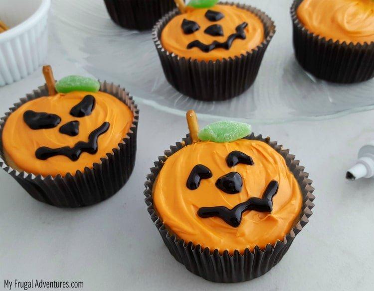 Jack-o-Lantern halloween Cupcakes