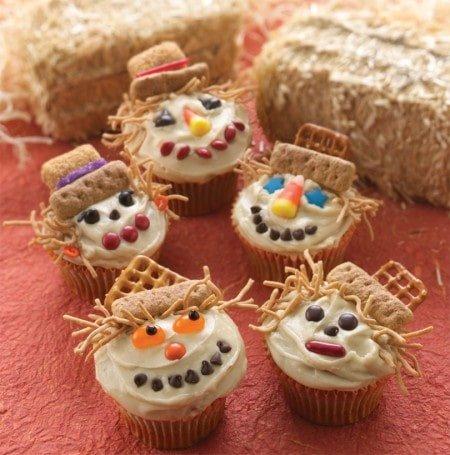 Scare crow Halloween cupcakes