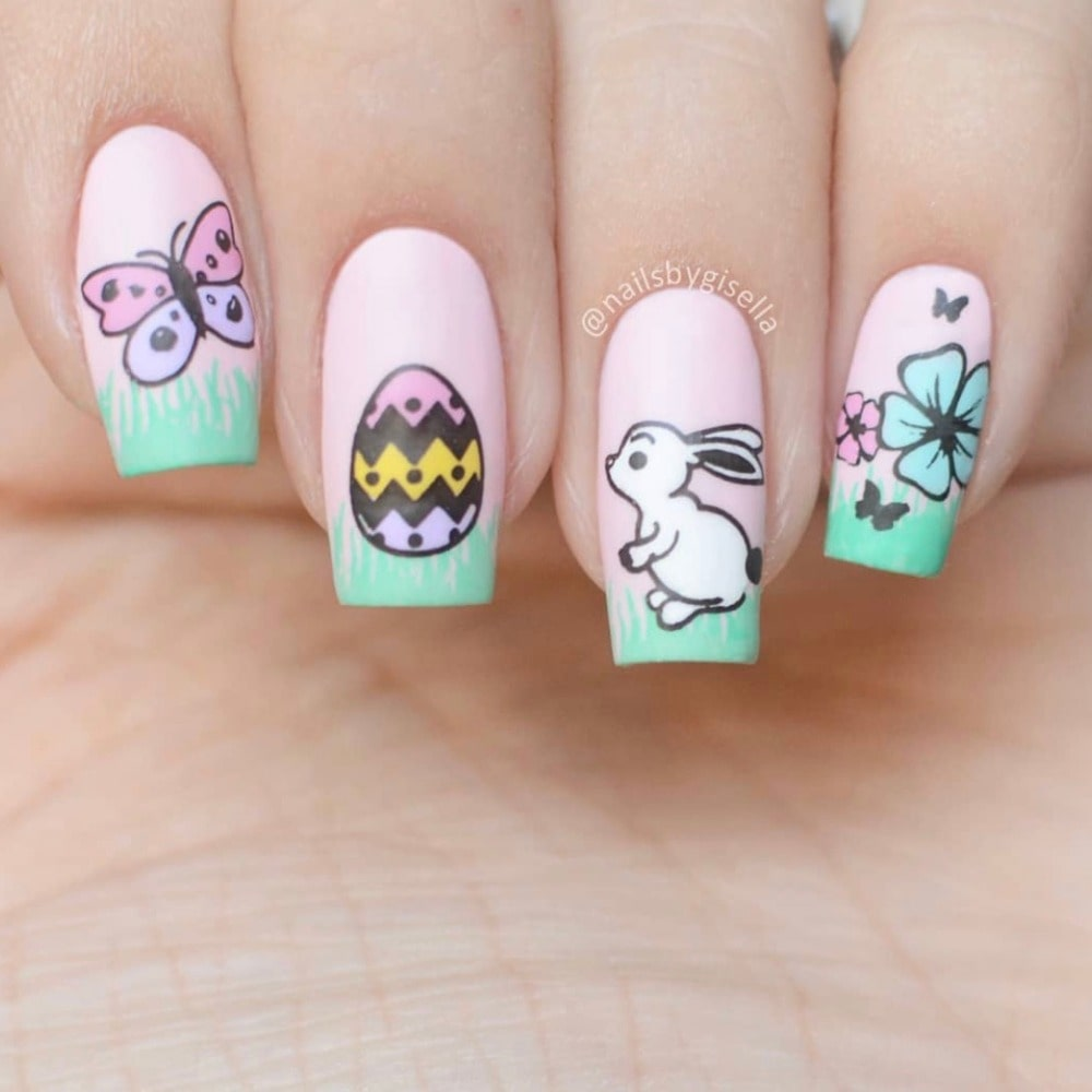 Chic-easter-bunny-and-egg-nail-art-min