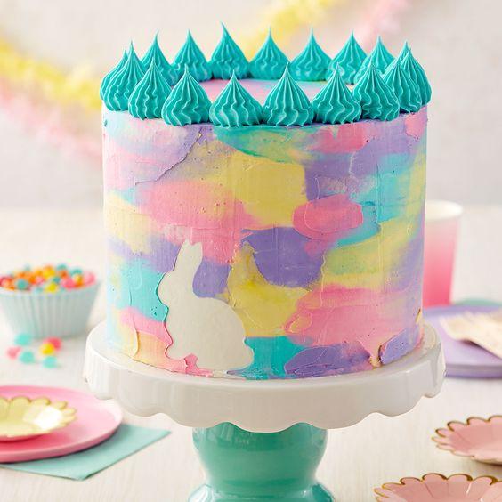 Easter Watercolor Cake