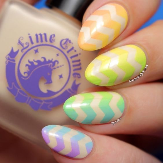 Gradient Easter Nail Design
