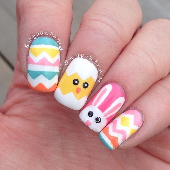 Perfect Easter Nail Art
