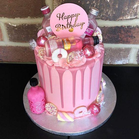 Pink Gin Birthday Cake