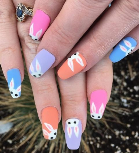 Too many Easter bunnies nails