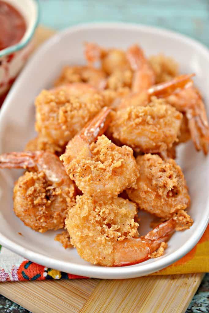 Crisp Air fried Keto Shrimp