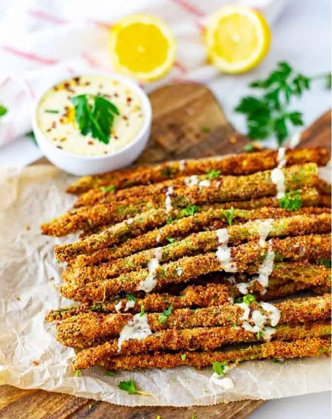 Keto Asparagus Fries