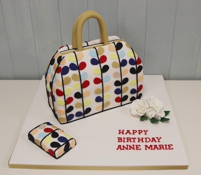 Multicolor Handbag Cake
