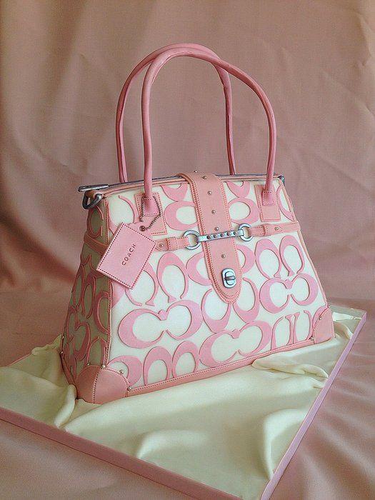 Pink Coach Hand bag cake