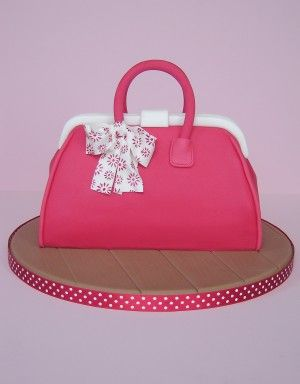 Pink and white cake bag