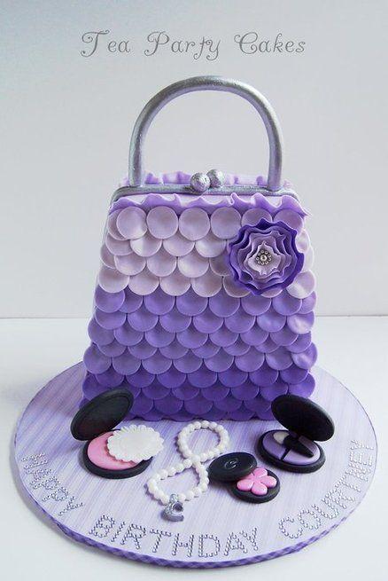 Purple purse cake