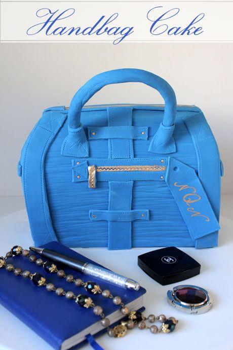 Simply Blue handbag cake