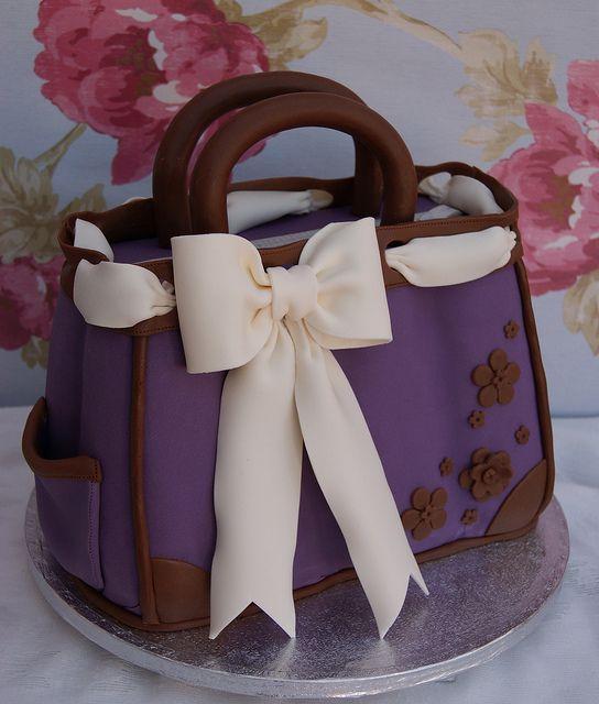 purple bag cake